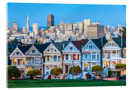 Stampa su vetro acrilico  The Painted Ladies, San Francisco