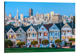 Alluminio Dibond  Painted Ladies, San Francisco