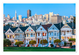 Poster Premium  The Painted Ladies, San Francisco