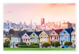 Poster  Painted Ladies in the evening