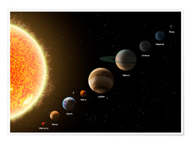 Poster Premium  Our planets