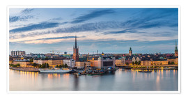 Poster Premium  Stockholm evening panorama