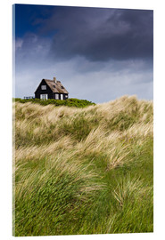 Stampa su vetro acrilico  Cottage in the dunes during storm