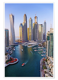 Poster Premium  Dubai Marina from above