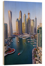 Stampa su legno  Dubai Marina from above