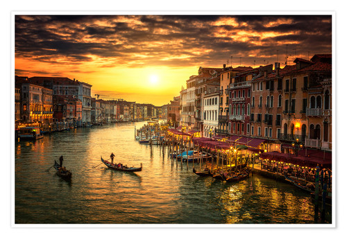Poster Premium Grand Canal at sunset