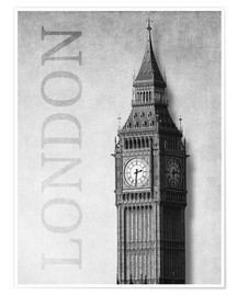 Poster Premium  London - Big Ben - Alex Saberi