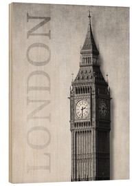 Stampa su legno  London - Big Ben - Alex Saberi