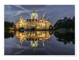 Poster Premium Neues Rathaus - Hannover, Germany