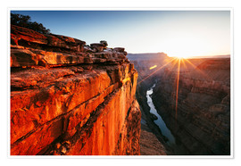 Poster Premium  Beautiful sunrise on Grand Canyon and river Colorado, USA - Matteo Colombo