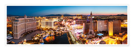 Poster Premium  View on Bellagio and the Strip, Las Vegas, Nevada, USA - Matteo Colombo