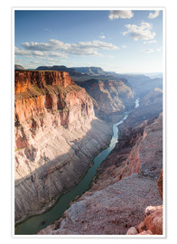 Poster Premium  Landscape: sunset over Colorado river, Grand Canyon, USA - Matteo Colombo