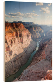 Stampa su legno  Landscape: sunset over Colorado river, Grand Canyon, USA - Matteo Colombo