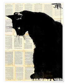 Poster  cat black - Loui Jover