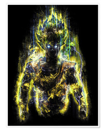 Poster Premium  50 Million Power Warrior Goku - Barrett Biggers