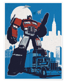 Poster  alternative optimus prime retro transformers art - 2ToastDesign