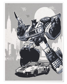 Poster  alternative jazz retro transformers art print - 2ToastDesign