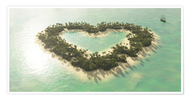 Poster  The Heart Island - Peter Weishaupt
