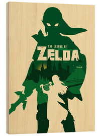 Stampa su legno  The Legend of Zelda - Golden Planet Prints