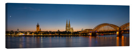 Stampa su tela  Cologne at sunset panorama - rclassen