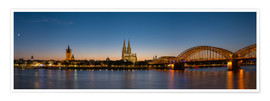 Poster Premium  Cologne at sunset panorama - rclassen