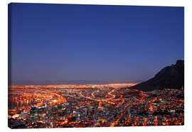 Stampa su tela  Cape Town at night, South Africa - wiw