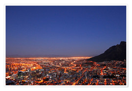 Poster Premium  Cape Town at night, South Africa - wiw