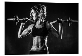 Forex  Sportswoman with a barbell