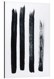 Alluminio Dibond  Abstract brush strokes