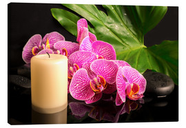 Stampa su tela  Zen still life with orchids