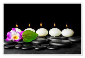 Poster Premium spa still life with candles