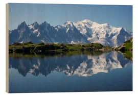 Legno  Lake with Mont Blanc massif