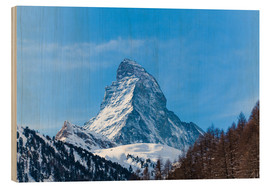 Stampa su legno  The Matterhorn, Switzerland