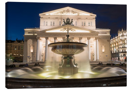 Stampa su tela  Fountain and Bolshoi Theatre