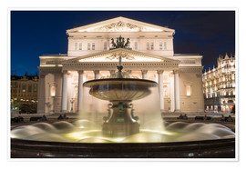 Poster Premium  Fountain and Bolshoi Theatre