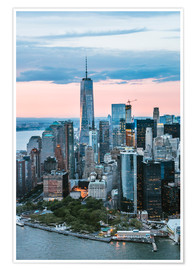 Poster Premium  Aerial view of World Trade Center and lower Manhattan, New York, USA - Matteo Colombo