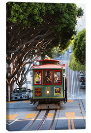 Tela  Cable tram in a street of San Francisco, California, USA - Matteo Colombo