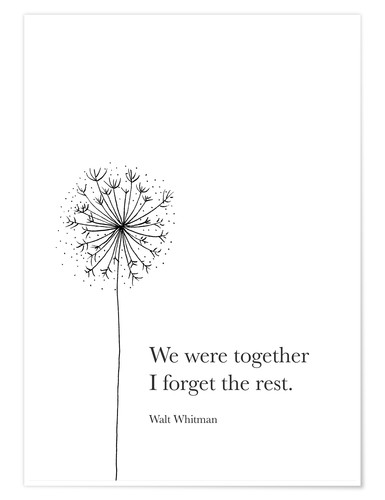 Poster We were together