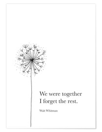 Poster Premium  We were together - RNDMS