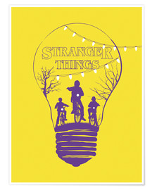 Poster Premium Stranger Things, giallo
