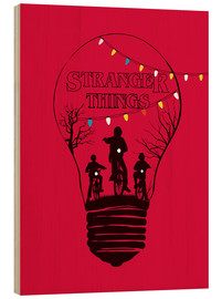 Stampa su legno  Stranger Things, rosso - Golden Planet Prints