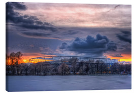 Stampa su tela  Clouds above the HDI Arena - Holger Bücker (BuPix)