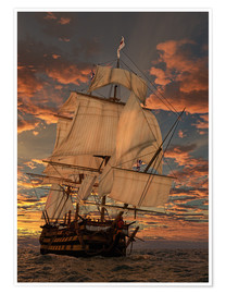 Poster Premium  HMS Victory - Peter Weishaupt