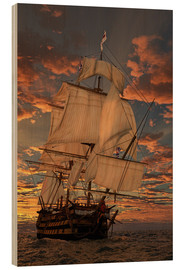 Stampa su legno  The HMS Victory - Peter Weishaupt