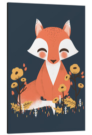 Alluminio Dibond  Animal friends - The fox - Kanzi Lue