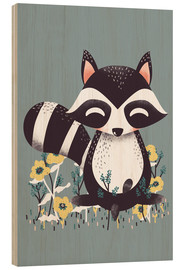 Legno  Animal friends - The raccoon - Kanzi Lue