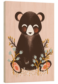 Legno  Animal friends - The bear pink - Kanzi Lue