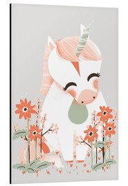 Alluminio Dibond  Animal friends - The unicorn - Kanzi Lue