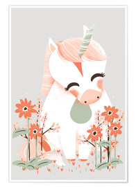 Poster  Animal friends - The unicorn - Kanzi Lue
