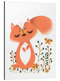 Stampa su alluminio  Animal friends - The squirrel - Kanzi Lue